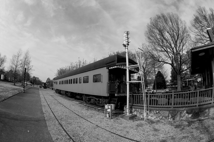 Collierville Train, Collierville Town Square.  Photo by Jim West