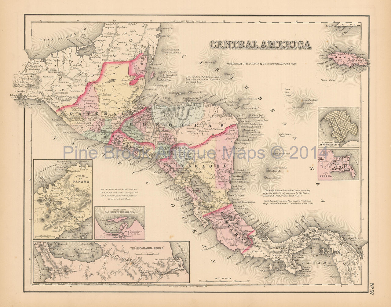 Jim West Central America Maps