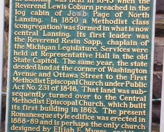 jim-west-central-united-methodist-Historical Marker - Lansing, MI